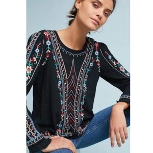 One September Wesley Floral Embroidered Blouse - M